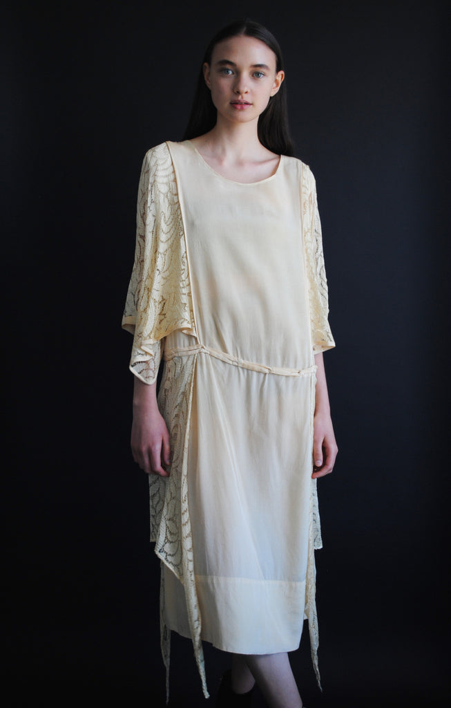 1920's Silk and Lace Dress