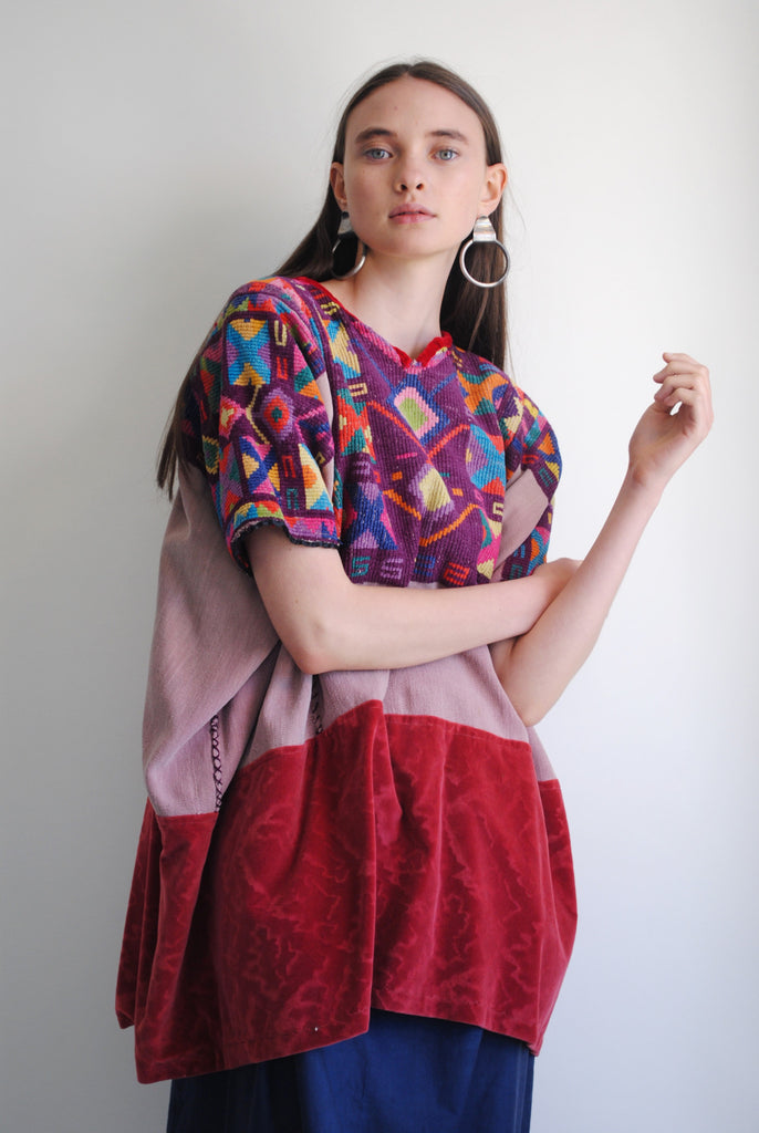 Embroidered Red Huipil