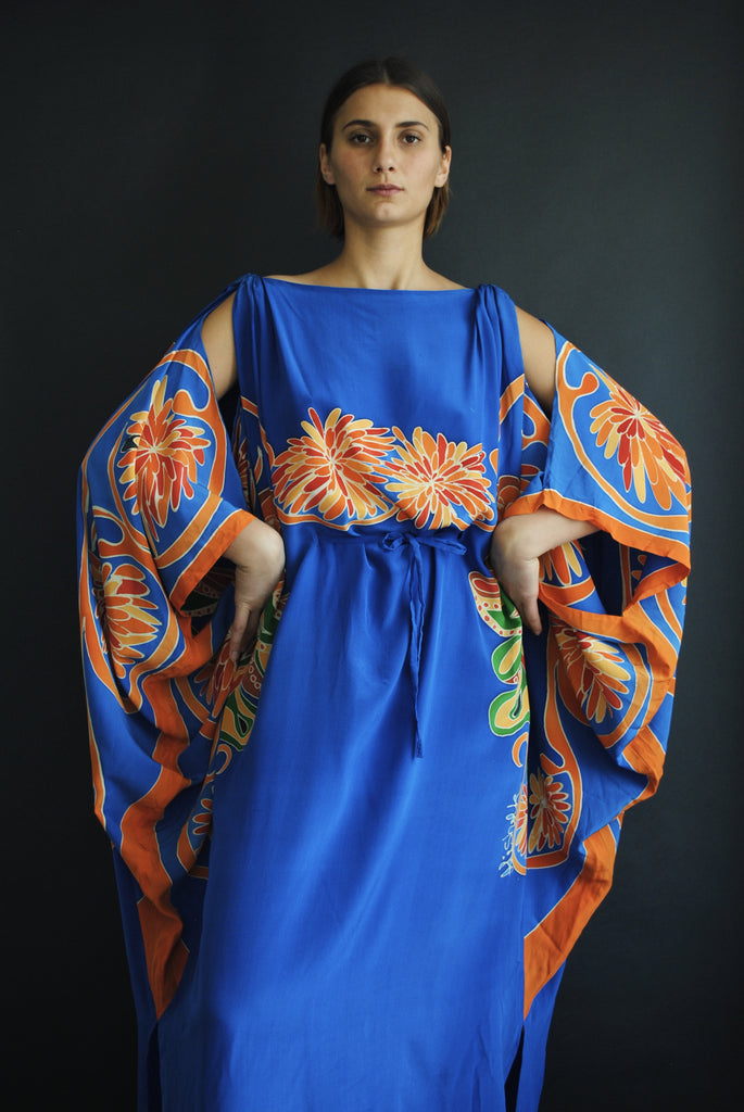 Blue Silk Caftan