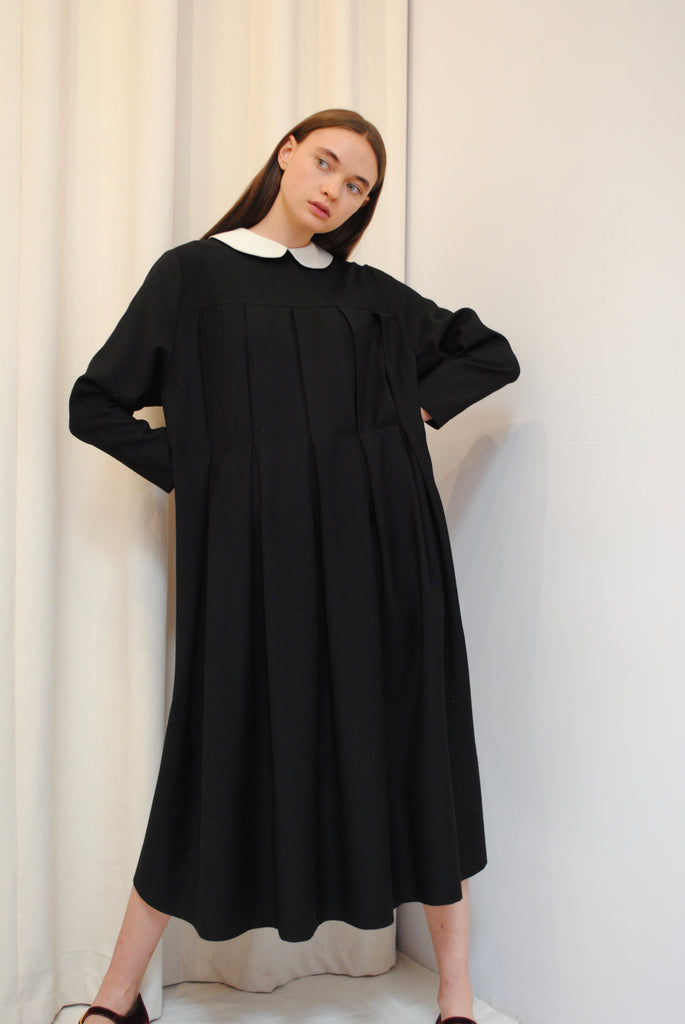 Pleated Day Dress
