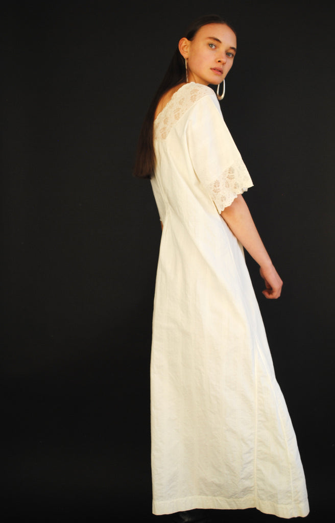 Antique White Day Dress