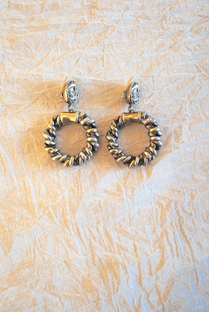 Braided Silver Earrings