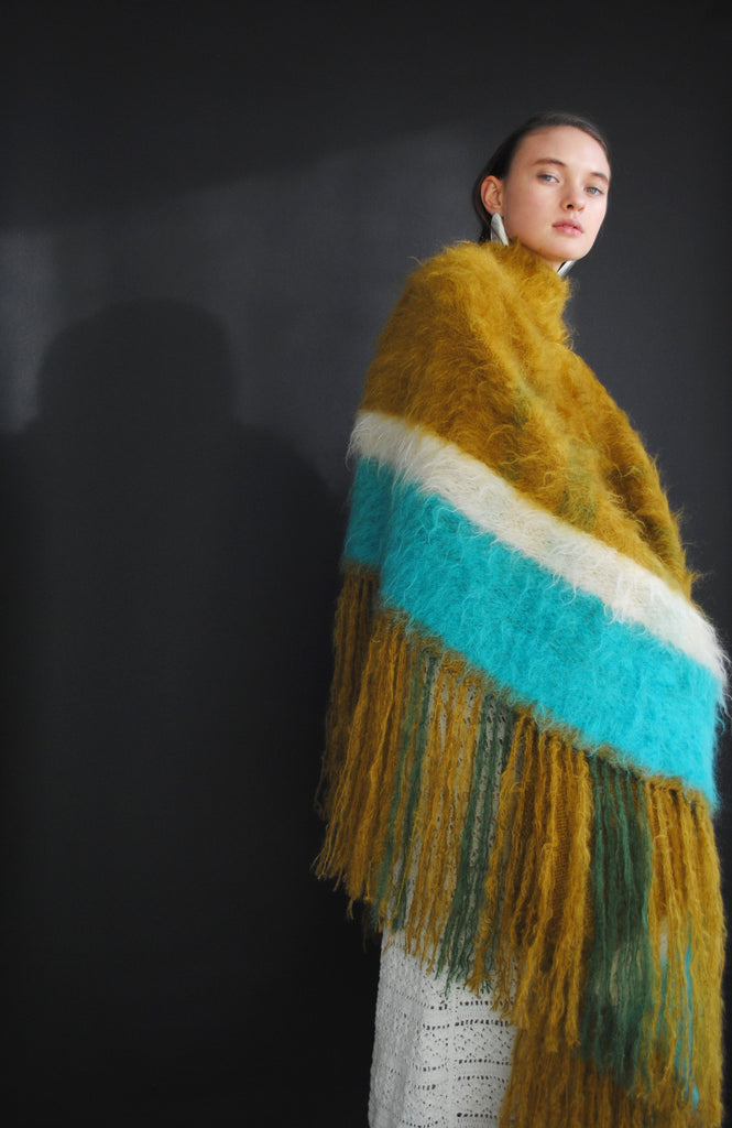 Brushed Mohair Woven Blanket
