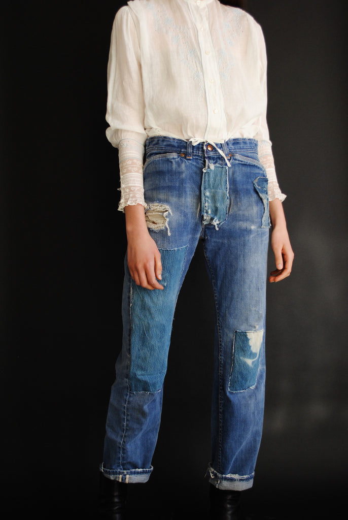 1940's Cotton Patchwork Denim