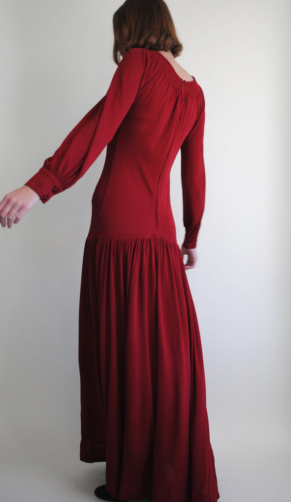 Vintage Valentino Red Gown