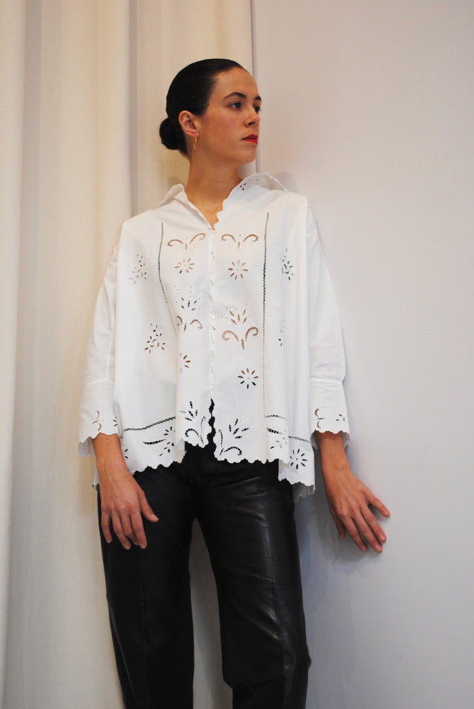 Antique Cut Out Blouse
