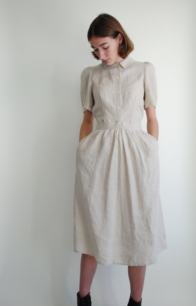 1960's Geoffrey Beene Linen Dress