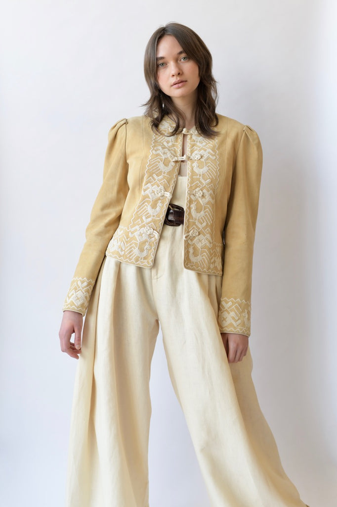 Vintage Oscar De La Renta Embroidered Jacket