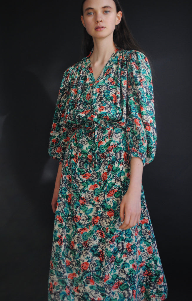 1940's Floral Day Dress