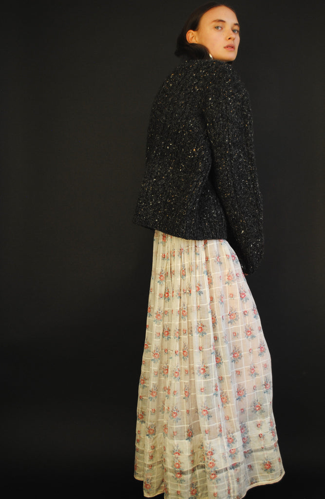 Antique Printed Cotton Skirt