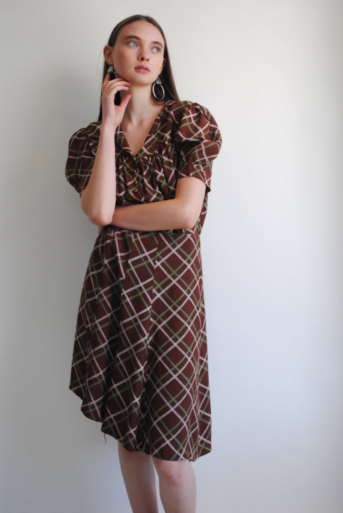 1930's Printed Day Dress