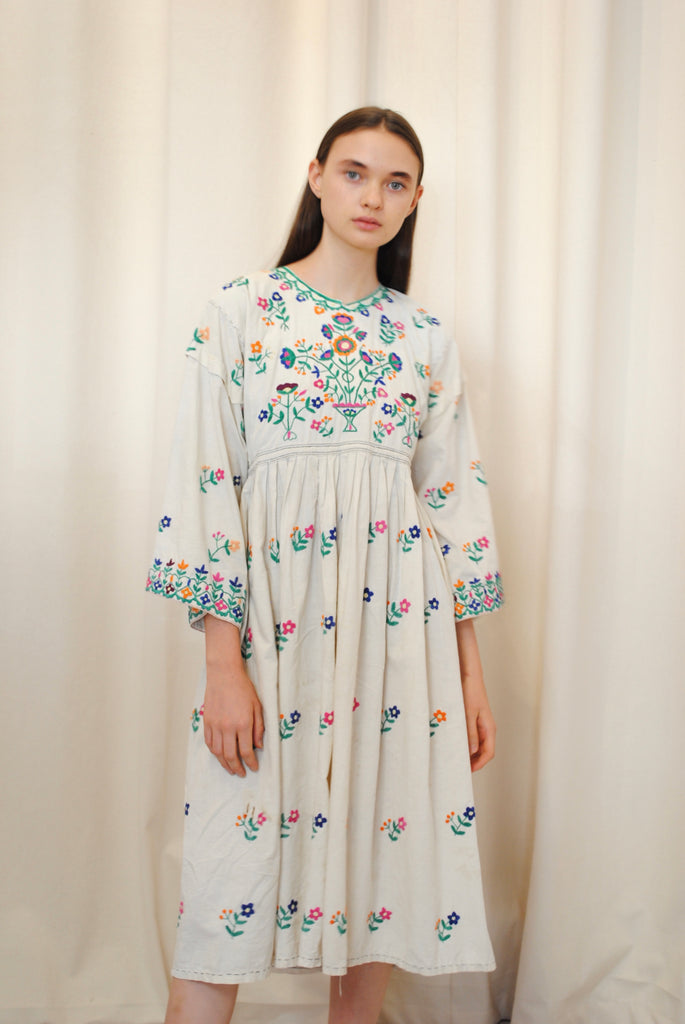 Antique Embroidered Day Dress