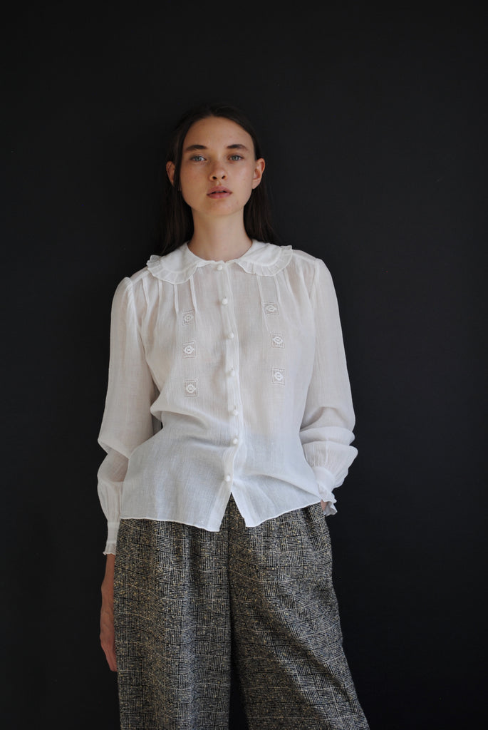 1940's Cotton Gauze Blouse