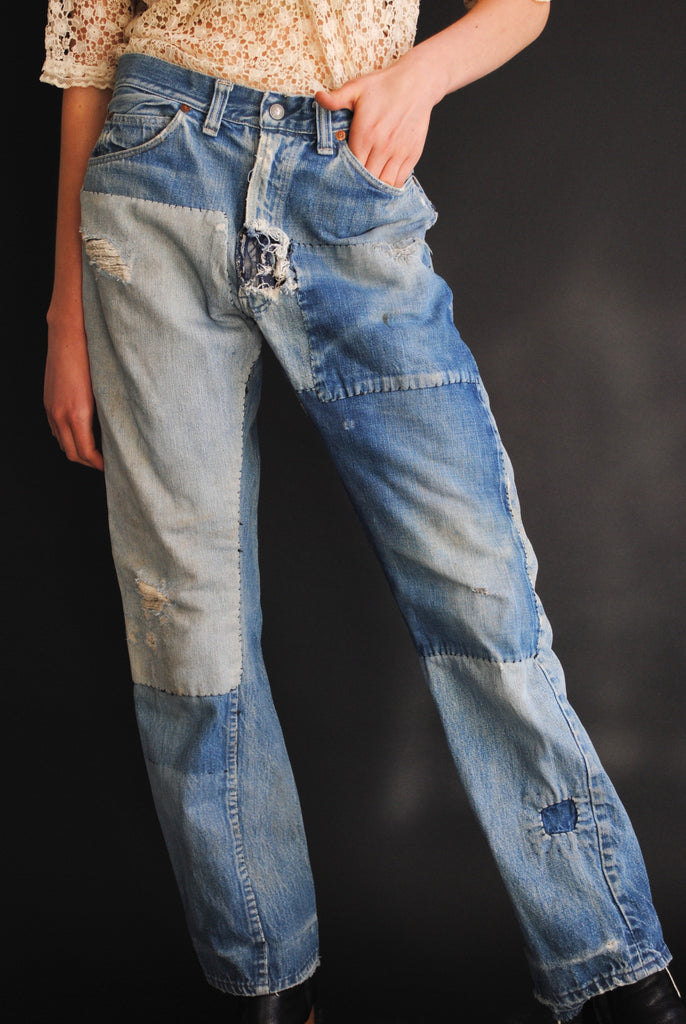 1950's Tonal Patchwork Denim
