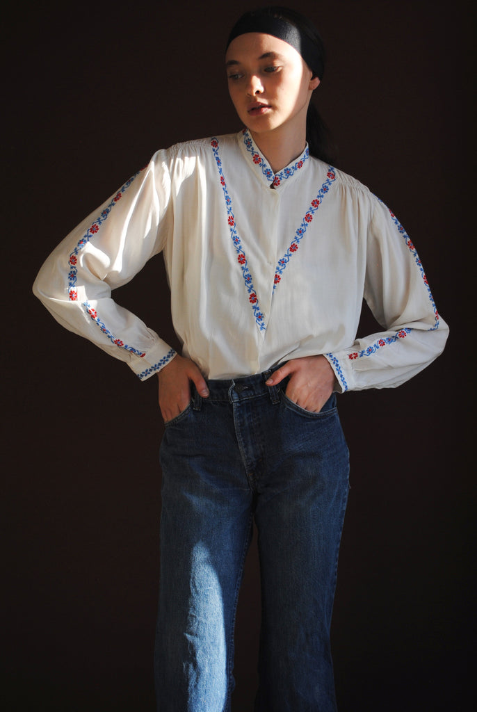 1940's Embroidered Blouse