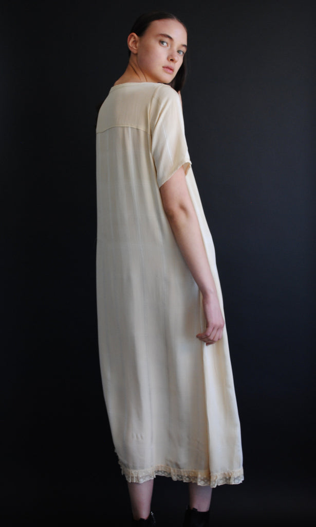 Antique Silk Ivory Dress