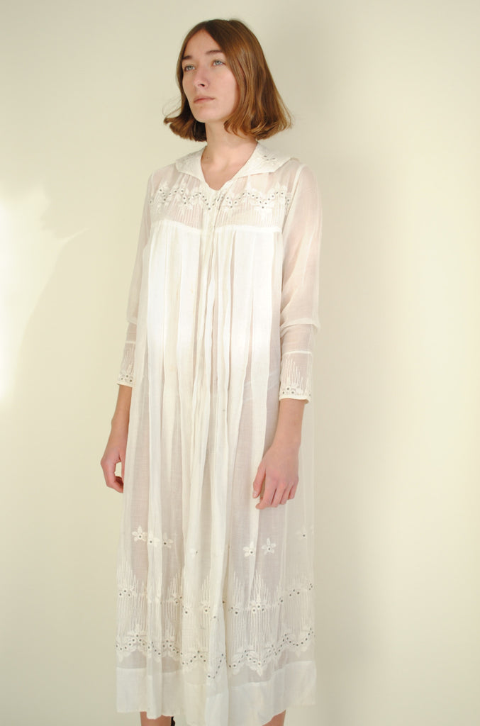 Edwardian Cotton Lawn Dress