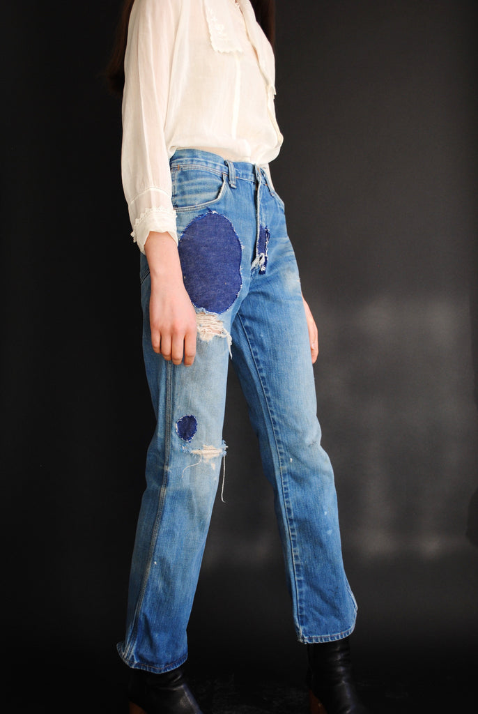 1960's Circular Patchwork Denim