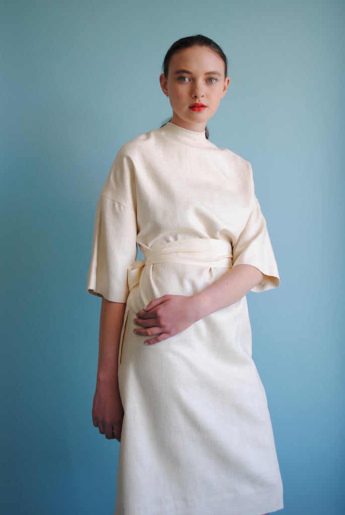 Raw Silk Shift Dress