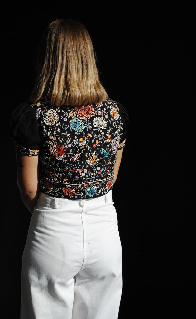 1930's Embroidered Cropped Jacket