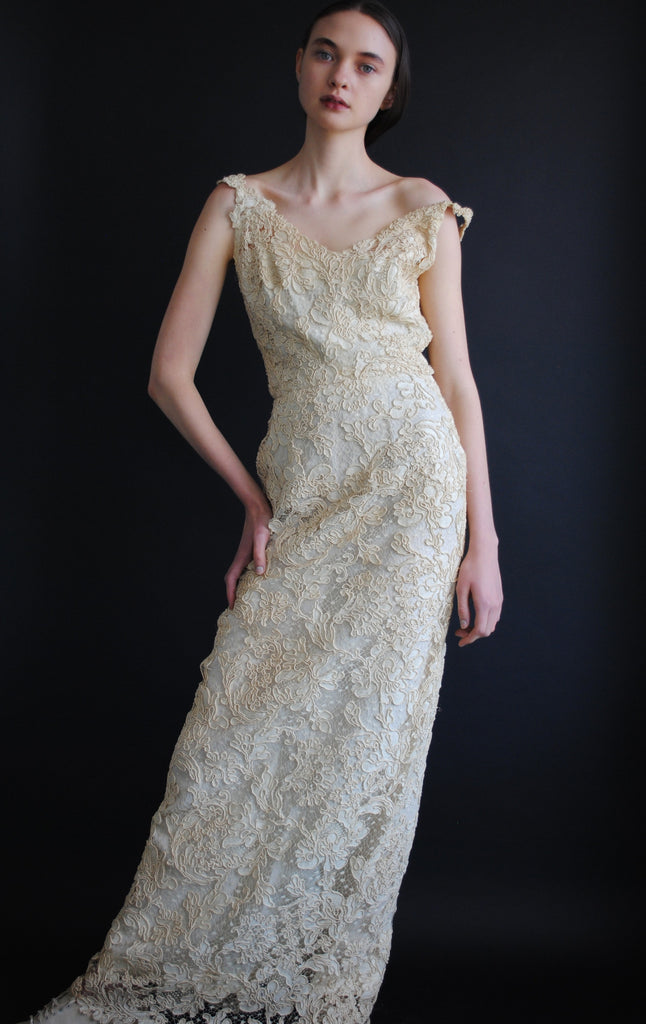 1950's Lace Evening Dress