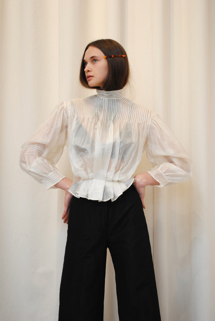 Antique Organdy Blouse