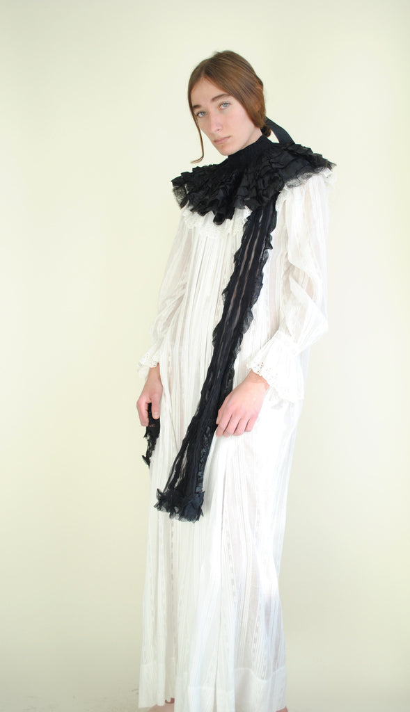 Edwardian Silk Ruffle Collar
