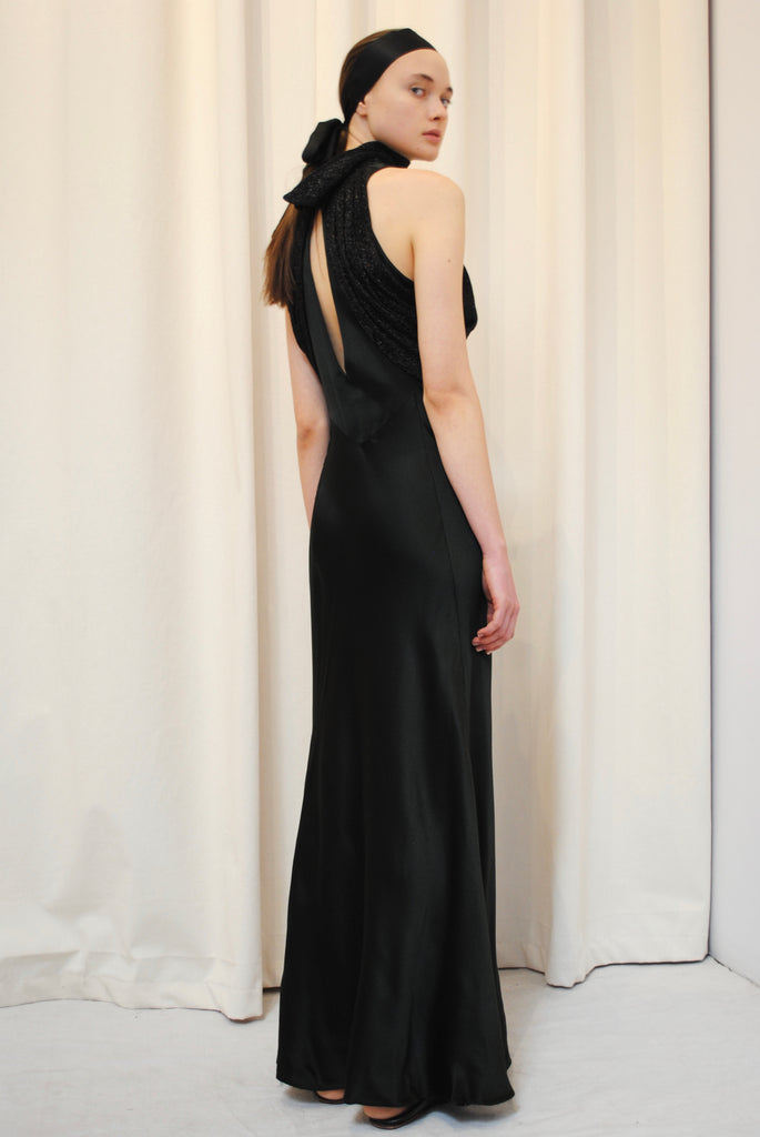 1930's Inky Black Gown