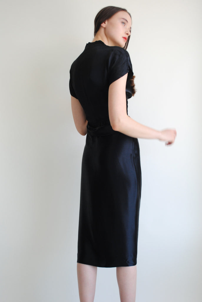 1940's Draped Evening Dress
