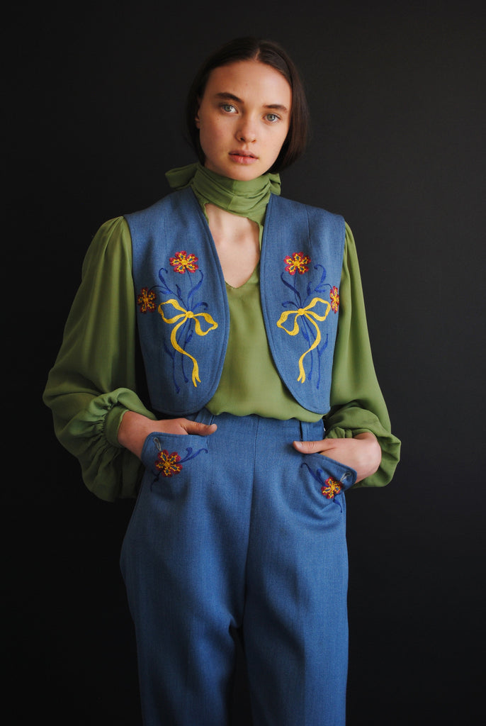 1940's Embroidered Western Suit