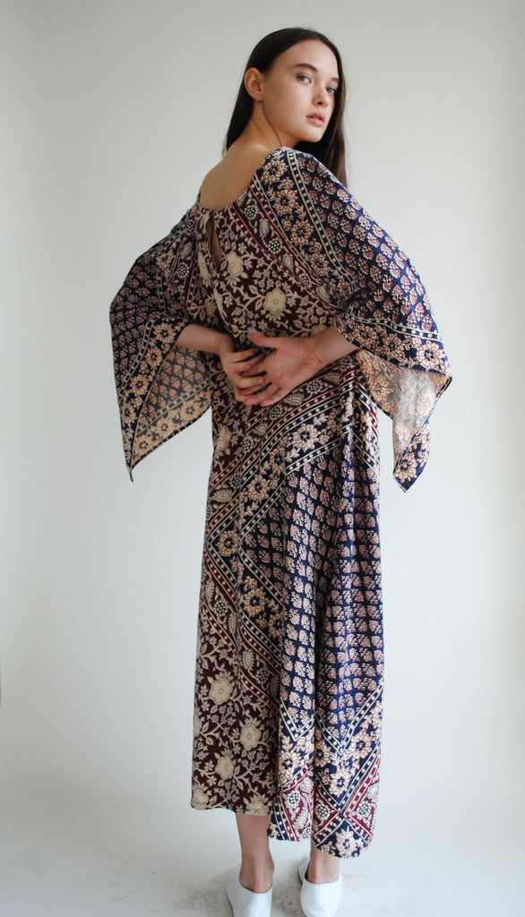Printed Caftan Dress