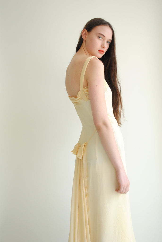 1930's Silk Chiffon Dress