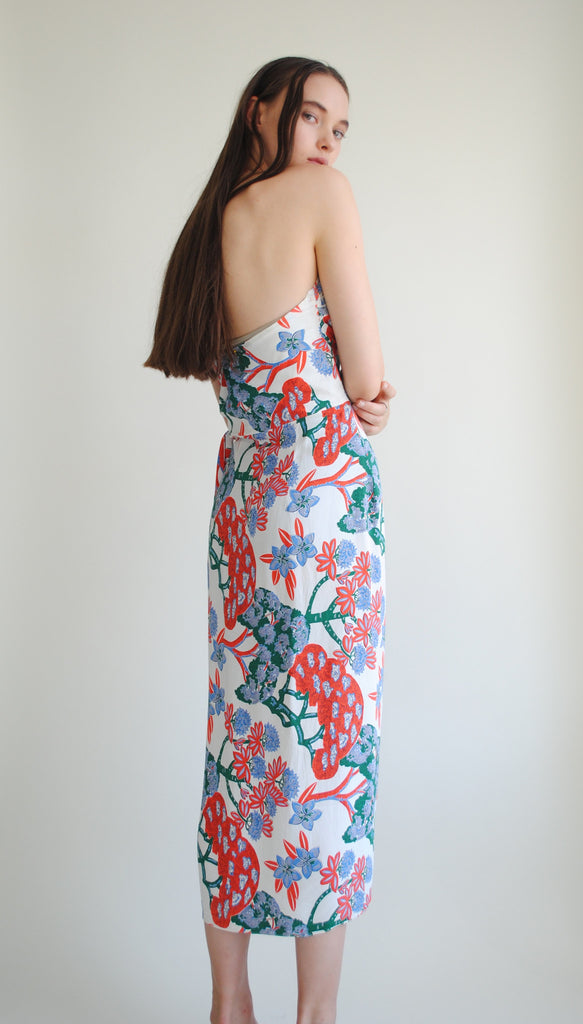 1940's Printed Halter Dress