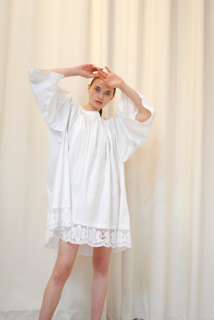 Antique Cotton Smock Tunic