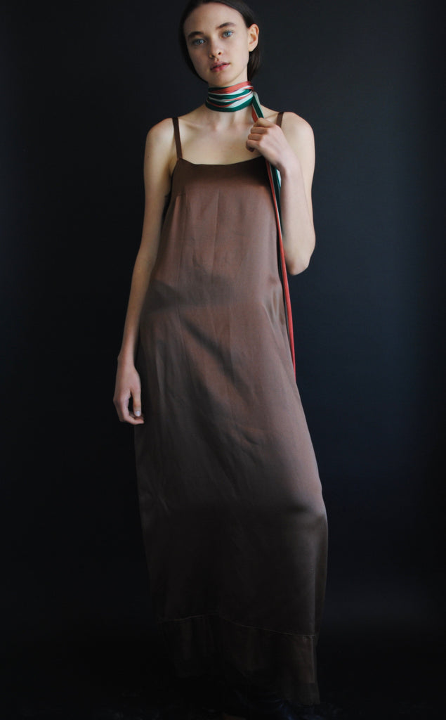 1930's Chocolate Brown Evening Dress