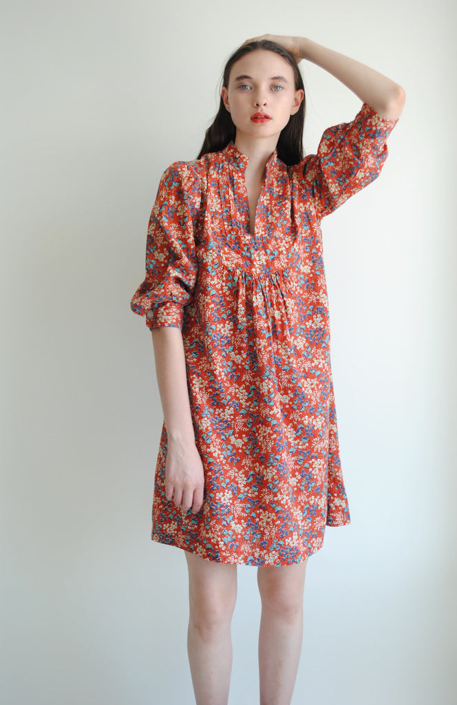 Vintage Printed Shift Dress