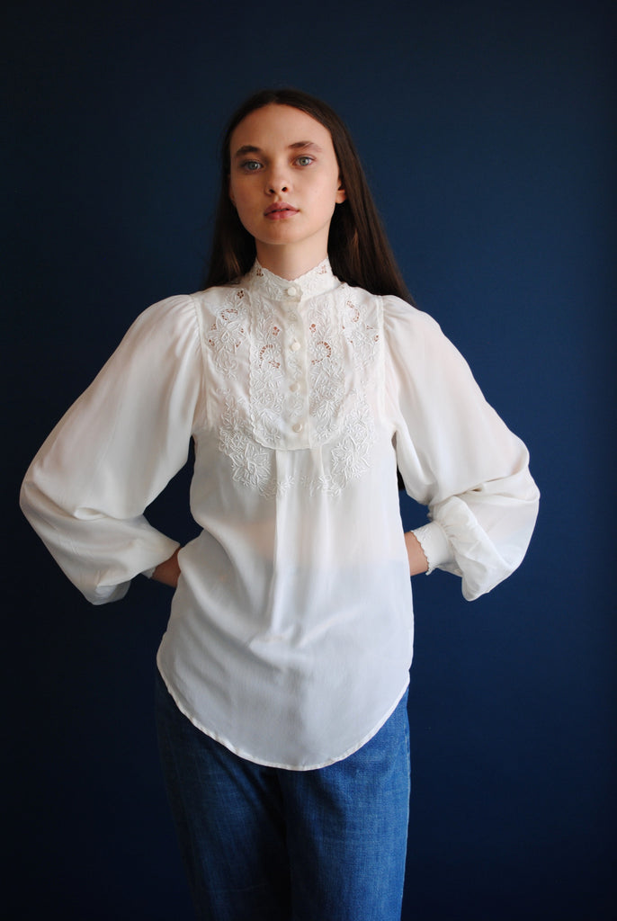 White Silk Blouse