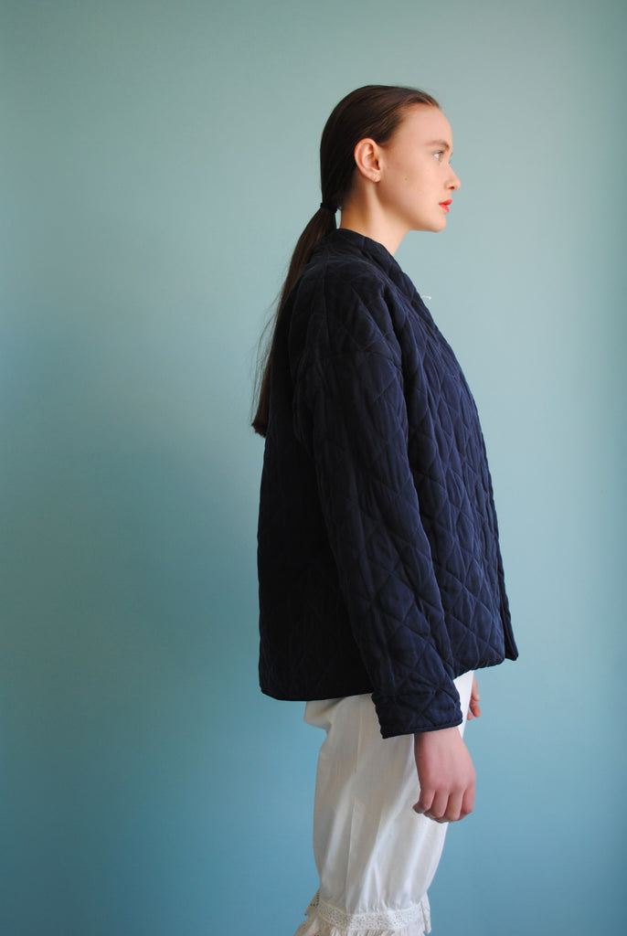Inky Blue Quilted Jacket