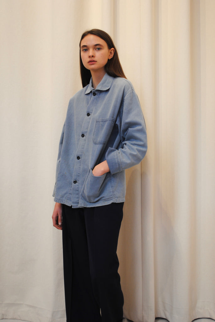 Indigo workwear jacket