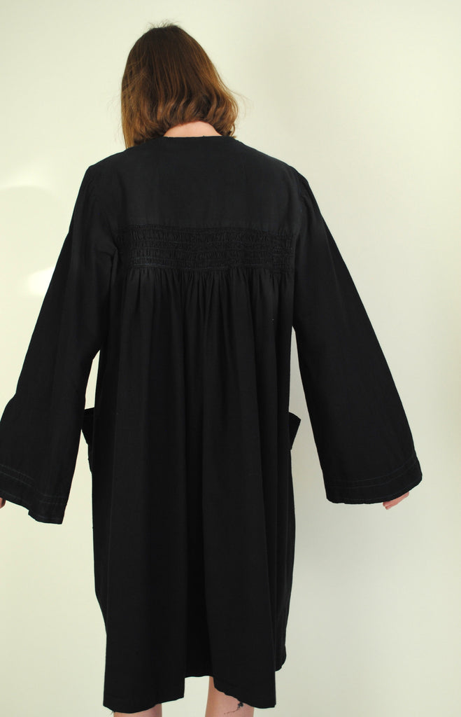 Black Smock Cotton Dress