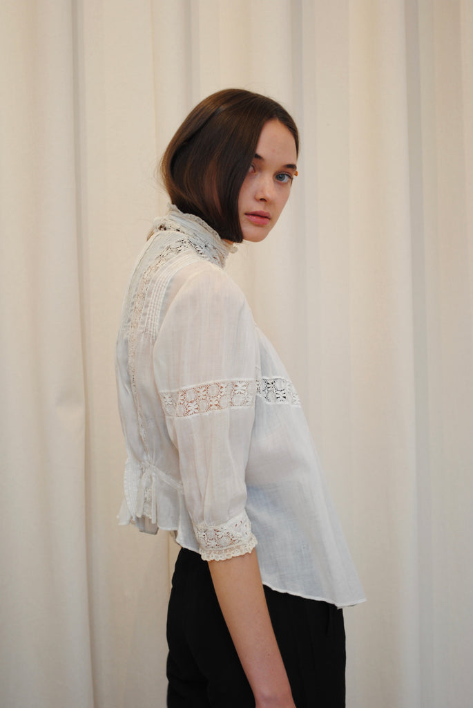 Victorian White Blouse