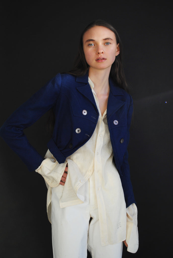 Antique Blue Overcoat