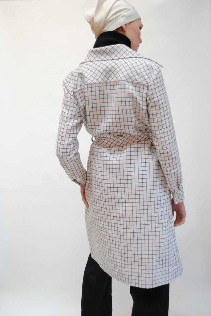 Vintage Cele Peterson Checkered Coat