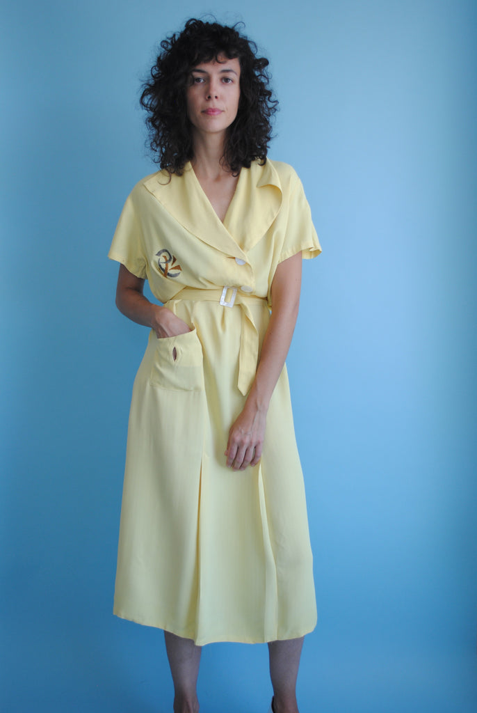 1940's Yellow Day Dress