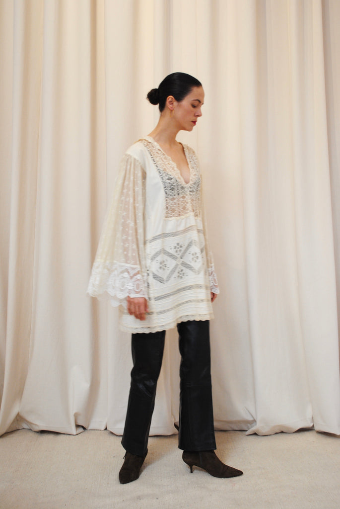 Antique Cotton and Lace blouse