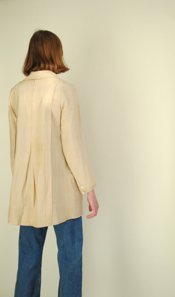 Edwardian Raw Silk Smock Jacket