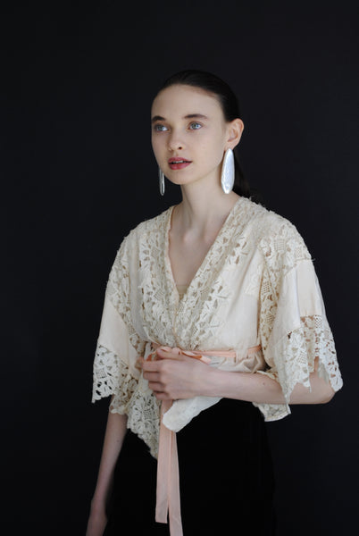 Antique Silk & Lace Blouse