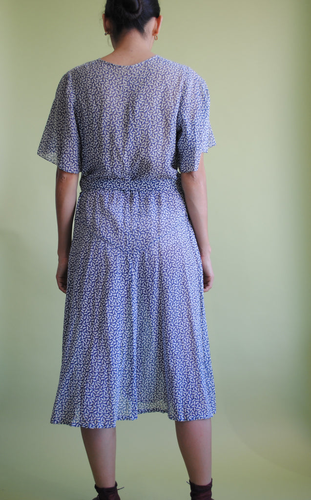 1930's Printed Cotton Dress