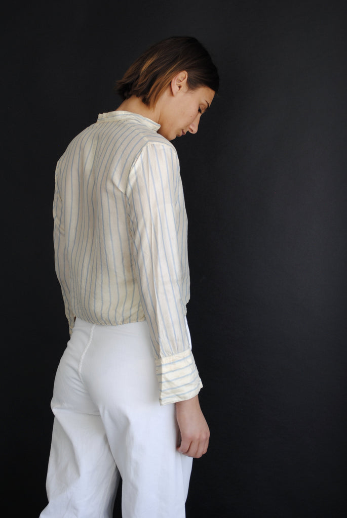 Antique Striped Silk Shirt