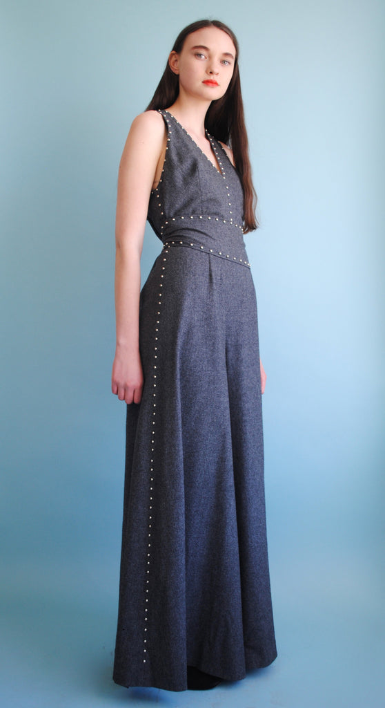 Grey Studded Jumpsuit